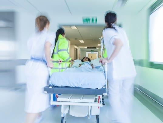 Motion Blur Stretcher Gurney Patient Hospital Emergency
