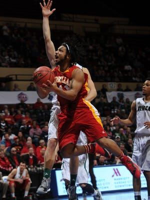 Hillcrest High School graduate Trey Starks was named MIAA Men's Basketball Athlete of the Week on Feb. 15, 2016