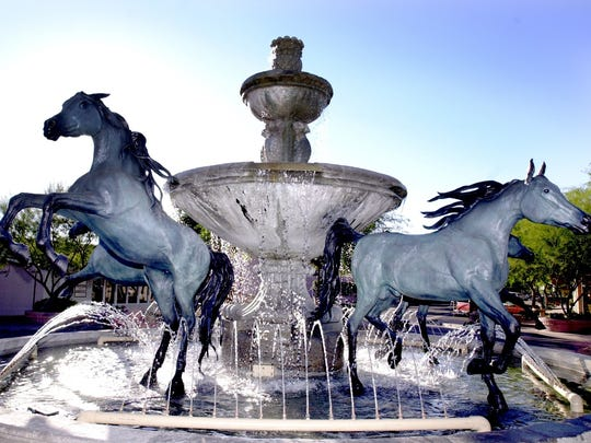The Bob Park's fountain is the focal point of the Scottsdale