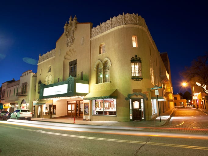 The 821-seat Lensic Theatre opened in Santa Fe, N.M.,