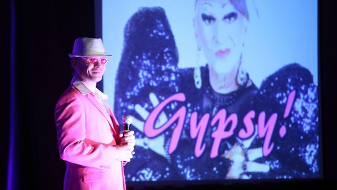 """Alfie Pettit helps kick off the comedy roast of James """"Gypsy"""" Haake at the Hard Rock Hotel in Palm Springs."""