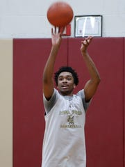 Iona's Bryce Wills puts up a shot during practice at Iona Prep Jan. 31, 2018. Iona will face Stepinac at Iona College on Friday night.