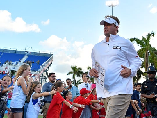 Lane Kiffin will head into his third year as head coach of Florida Atlantic in 2019.