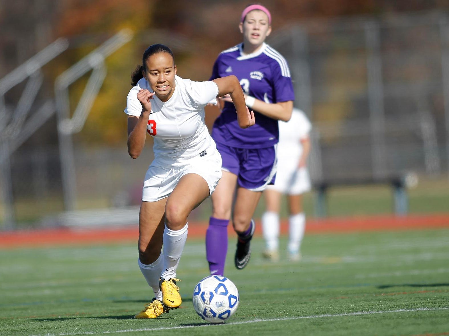 North Rockland's Naya Rivera, shown in a Class AA regional final against Monroe-Woodbury in 2014, is the Rockland Scholar-Athlete of the Week.