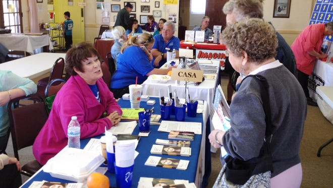The Silver City Woman's Club held its annual Community Outreach Day on Saturday, featuring numerous community programs and non-profits. Hundreds of people visited the various booths during the daylong event.