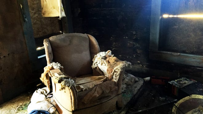 This room in a house on Pickett St in Shreveport will be demolished by the end of the week