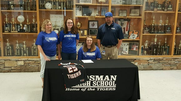 Rosman senior Rachel Owen has signed to play basketball for Brevard College.