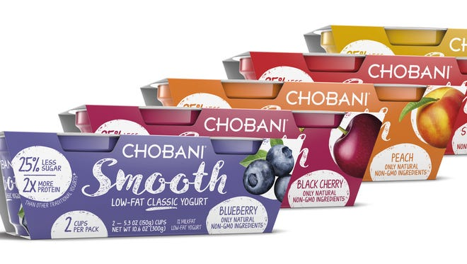 Chobani is trying to distinguish its new traditional yogurt with its Greek yogurt with packaging.