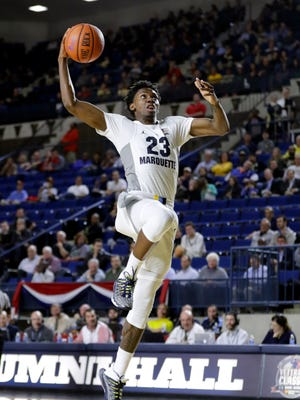 Marquette guard Jajuan Johnson looks to build on his strong opening performance on Monday night