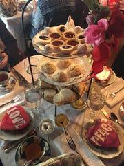 Handmade sandwiches, scones and desserts prepared by Victoria's Tea Service.