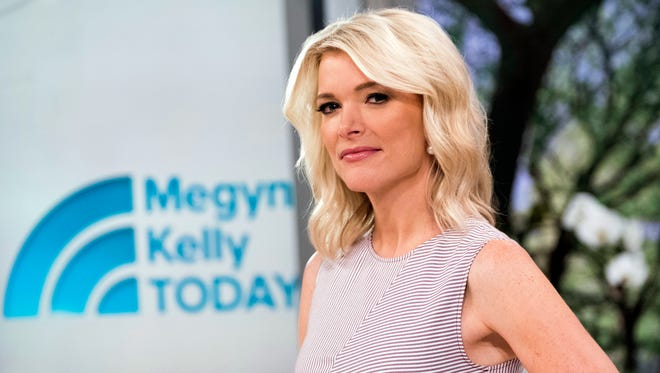 """Megyn Kelly poses on the set of her new show, """"Megyn Kelly Today"""" at NBC Studios on Thursday, Sept, 21, 2017, in New York. Kelly's  talk show debuts Monday, Sept. 25, at 9 a.m. EDT."""