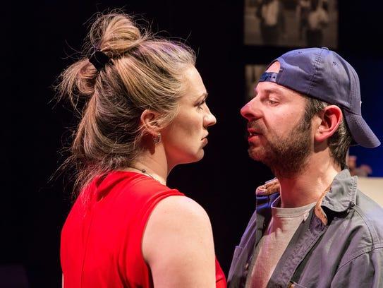 "Rhiannon Ragland and David Bendena in ""Flint"" at Purple"