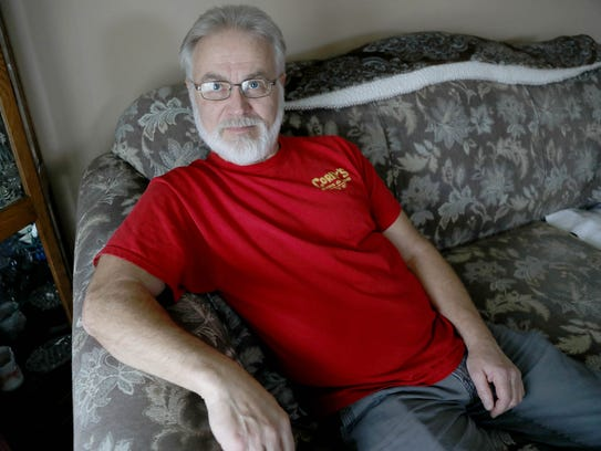 Billy Phillips, 62, of Taylor broke his arm in an industrial accident 12 years ago. He has limited range of motion with the arm and numbness in his hand from nerve damage whenever he tries to use it.