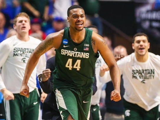 Mar 19, 2017; Tulsa, OK, USA; Michigan State Spartans
