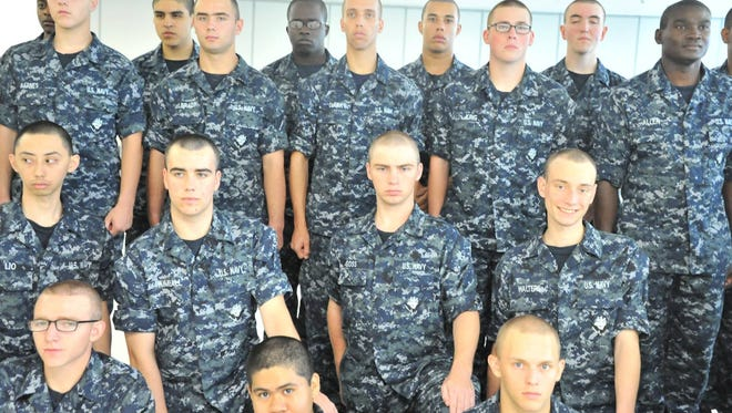 Damian Douglas Walker, who was charged with threatening the LCC campus Wednesday, is pictured in the bottom right of this photo posted on the U.S. Navy Recruit Training Command Facebook page on Aug. 17, 2016.