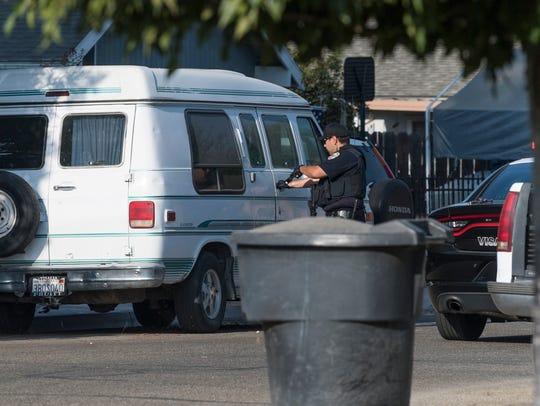 Visalia police investigate a stabbing in the 800 block