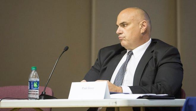 State Examiner Paul Joyce in Muncie recently.