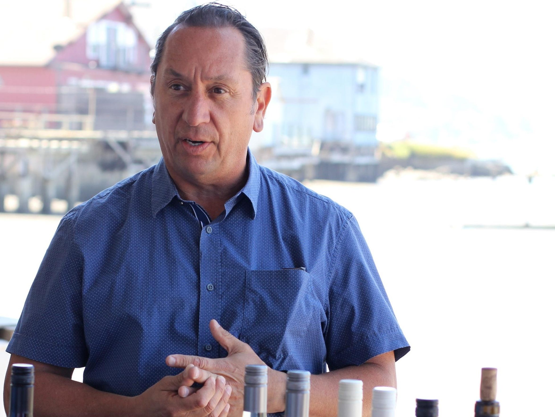 At a lunch on Tomales Bay in Marin County, Chuck Hernandez