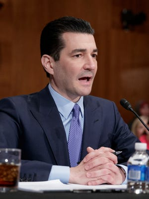 Food and Drug Administration (FDA) Commissioner-designate Dr. Scott Gottlieb testifies on Capitol Hill in Washington at his confirmation hearing before the Senate Health, Education, Labor, and Pensions Committee. The Senate is on track to confirm Gottlieb as the head of the Food and Drug Administration.