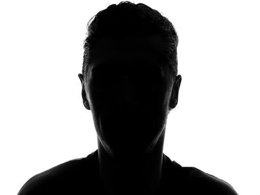 Hidden face silhouette Stock image
