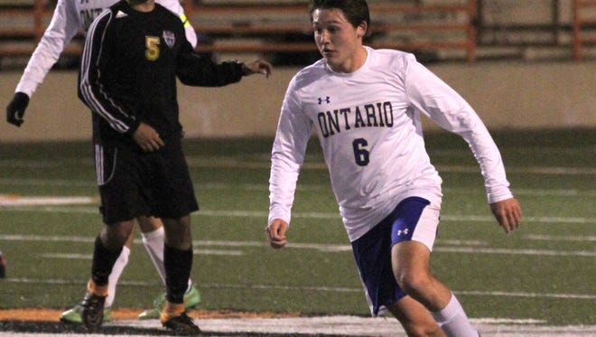 The Ontario boys soccer team defeated Lexington  2-1 to win the district championship on Oct. 26 at Arlin Field.
