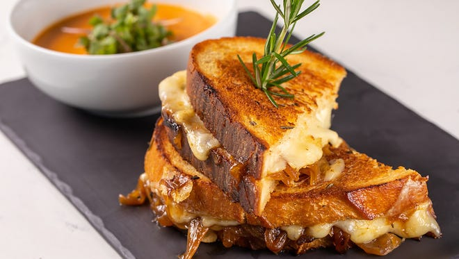 Every Tuesday this summer, Timeless in Naples is offering a grilled cheese special, such as this French Onion Grilled Cheese sandwich.