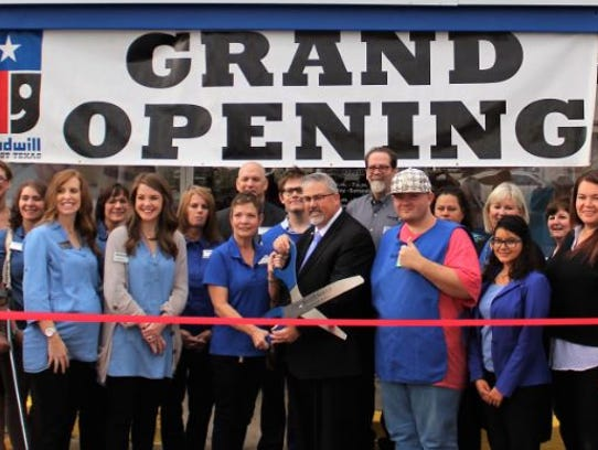 Goodwill West Texas held a grand opening for its new Career Center at 2301 Sherwood Way on Oct. 20, as President and CEO Kevin Bradford wielded the ceremonial scissors.