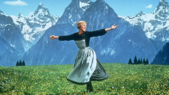 """Julie Andrews in a scene from the 1965 motion picture """"The Sound of Music."""""""