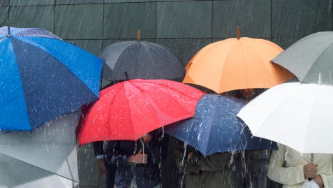 Rain is predicted throughout the region through the weekend.