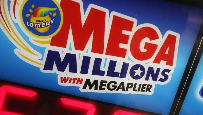 Mega Millions sign.