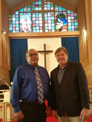 From left, are Reverend DeWayne Smith and Reverend Larry Hulver.