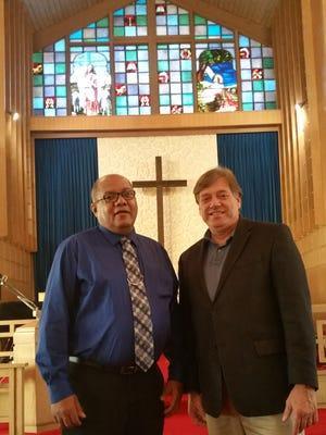 From left, are Reverend DeWayne Smithand Reverend Larry Hulver.