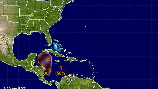 A tropical storm could develop in the western Caribbean over the next five days.