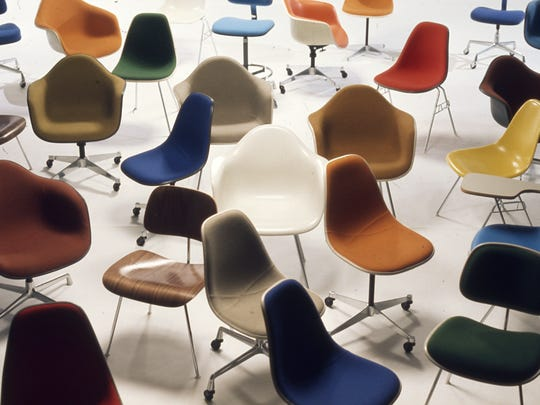 Herman Miller chairs were mass-produced with interchangeable components for a variety of uses.