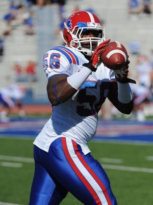 Former Louisiana Tech linebacker Tony Johnson signed with the New York Giants on Thursday.