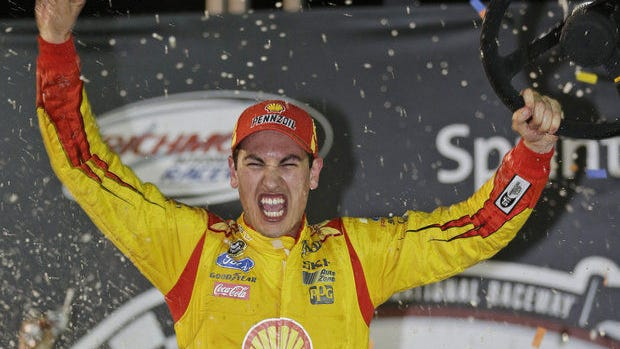 Middletown, Connecticut's NASCAR Sprint Cup driver Joey Logano draws the pole spot in Sunday's 400 at IMS. (Credit: AP photo)