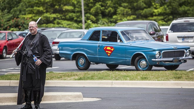 Attendees arrive at Teen Con in the New Castle-Henry County Public Library parking lot in 2015.