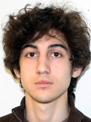 FILE - This undated file photo released Friday, April 19, 2013, by the FBI shows Dzhokhar Tsarnaev, convicted Wednesday, April 8, 2015, in federal court in Boston on multiple charges in the 2013 Boston Marathon bombings. Three people were killed and more than 260 were injured when twin pressure-cooker bombs exploded near the finish line.  (AP Photo/FBI, File)