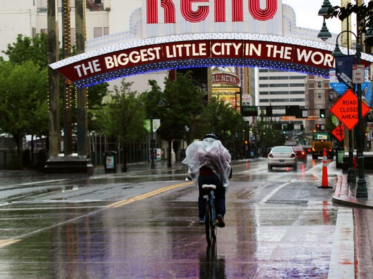 Reno forecasters expect a cold storm to move through the area starting Friday afternoon. The storm could bring valley rain and mountain snow, with some showers lasting through Saturday, March 23, 2019.