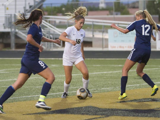 Desert Hills striker Kenzie Done scored a goal to give the Thunder a 6-0 victory over Millard at Thunder Stadium on Tuesday.