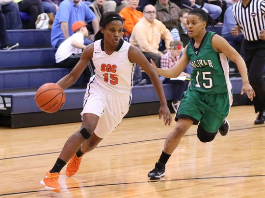 South Gibson's Christen King uses her speed to push