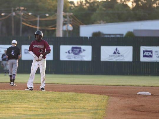 Crockett County's Jeremiah Nance presents a hitting