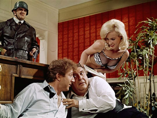 Gene Wilder starred as Leo Bloom in the 1967 film 'The Producers' with (from left) Kenneth Mars, Zero Mostel and Lee Meredith.