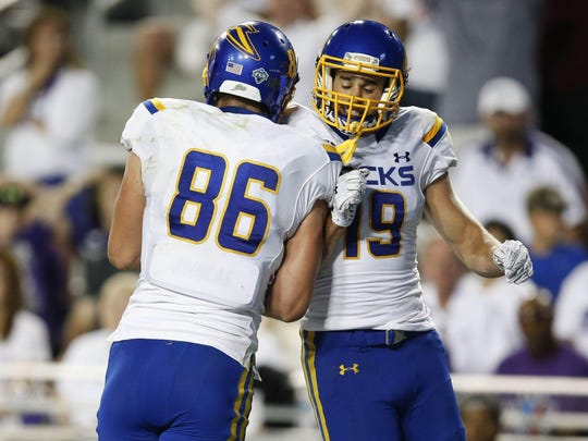 Dallas Goedert and Jake Wieneke were both All-Americans at SDSU.