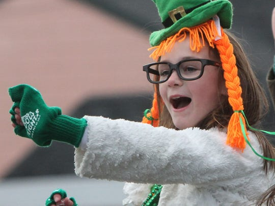 Rumson NJ The annual Saint Patrick's Day parade marches along West River Road on Sunday.