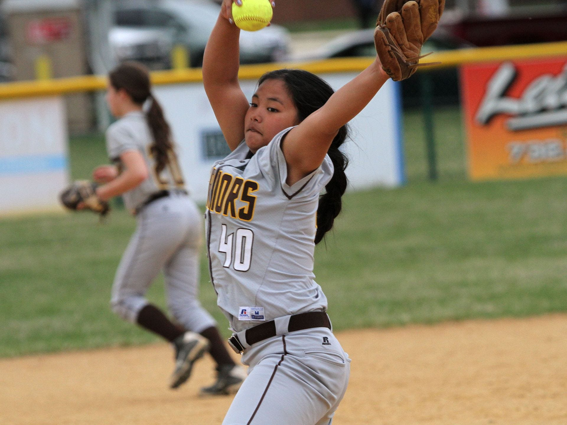 Watchung HIlls freshman righty Robin McCabe enjoyed a very successful first varsity start Tuesday at Montgomery