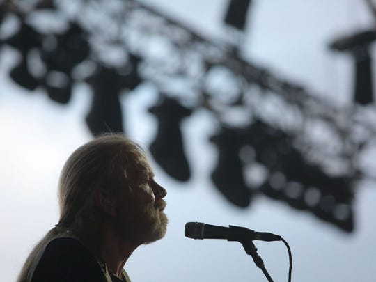 Gregg Allman performs at the Stagecoach Country Music Festival in Indio on Saturday.