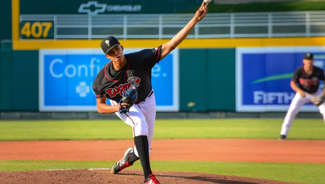 Lansing Lugnuts pitcher Angel Perdomo was voted to the Midwest League postseason all-star team.