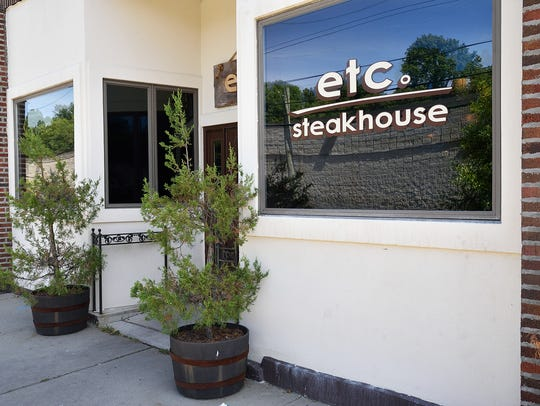 The exterior of Etc. Steakhouse in Teaneck.