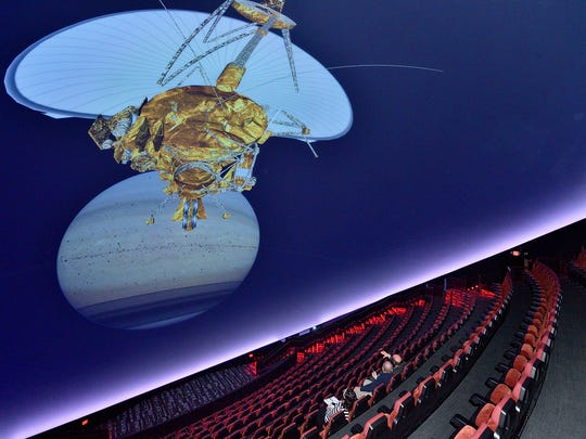 The Jennifer Chalsty Planetarium at the Liberty Science Center in Jersey City.